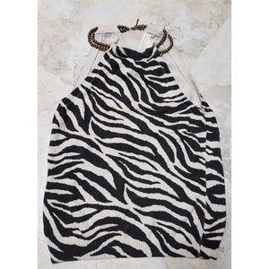 Michael Kors  Halter top knitted 100% cotton Sz. M
